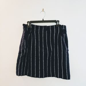 H&M navy and white striped skirt size 10 NWT
